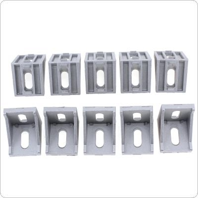 10pcs 4040 Aluminum Angle Code with Nut Hole Support T-slot Profile Frame Extrusion Bracket for Connecting The Flow Profile