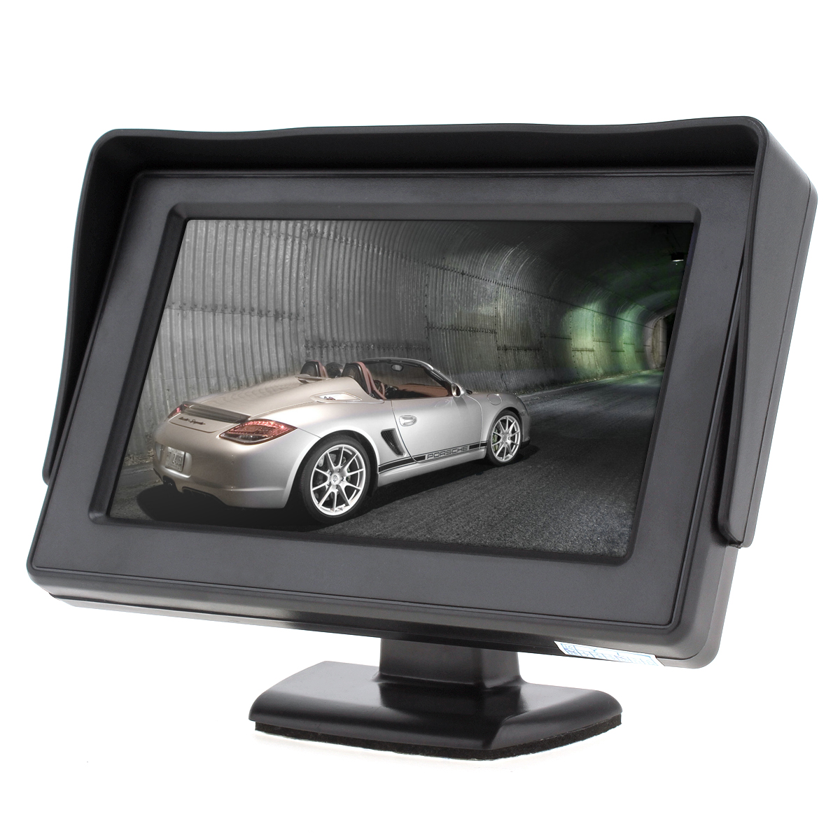 4.3 Inch HD 480 x 234 Resolution 2-Channel Video Input TFT LCD Car Monitor for Rear View Camera / DVD / VCD