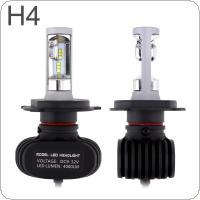 2pcs S1 H4 Auto Car Headlight 50W 8000LM 6000K Automobile Fog Lamp CSP LED Light