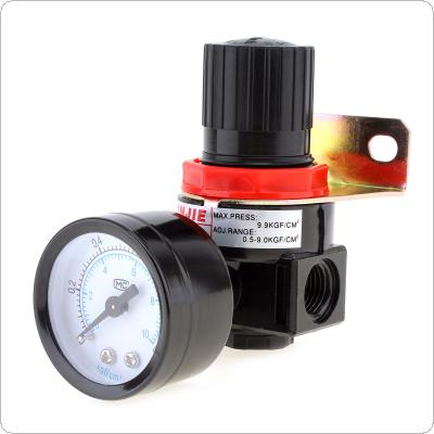 AR2000 0-1.0mpa Adjustable Air Pressure Regulator Air Treatment Units G1/4 Caliber with Gauge & Bracket