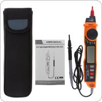 MS8211 Digital Multimeter ACV / DCV Electric Handheld Tester Pen Type Non-contact Voltage NCV Detector with Test Probe