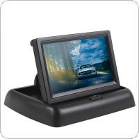 4.3 Inch Foldable Car Monitor 12V TFT LCD Display Car Parking Assistance with 4 IR Light EU Car License Plate Frame Rear View Camera