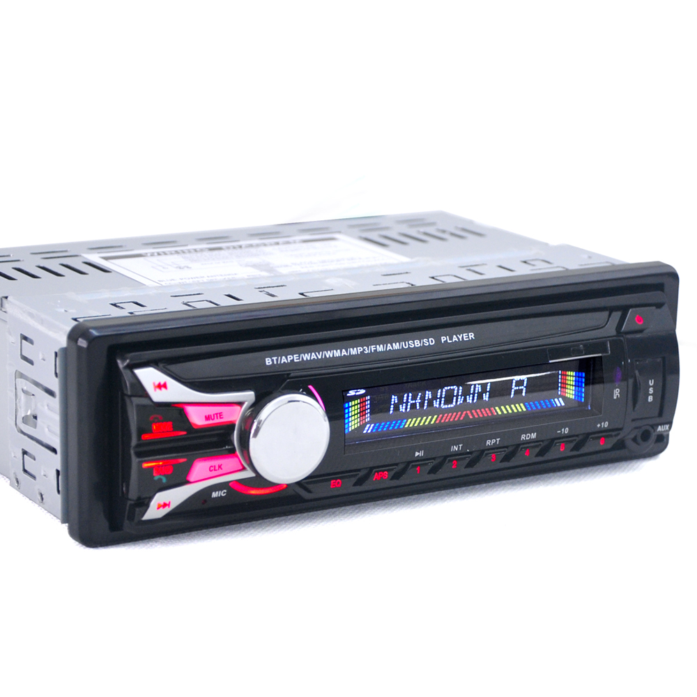 1188B 1DIN 12V Car Radio Stereo FM MP3 Player Bluetooth AUX Input with Detachable Front Panel & USB Port & Remote Control