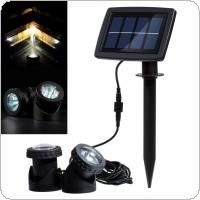 Solar Powered Light 2 Lamps 12 LED Waterproof Landscape Spotlight for Garden / Pool / Pond / Lawn