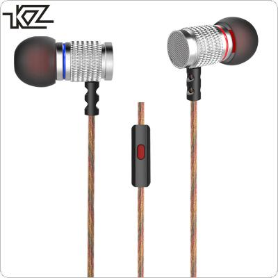 KZ EDR2 In-ear Headphone Subwoofer Metal Earphone Hifi Sport Headset Noise Isolating Earbud with Microphone