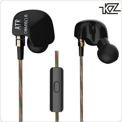 KZ-ATR In-ear Headphone HiFi Sport Earphone Music Headset Subwoofer Noise Isolating Earbud with Microphone