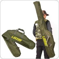 1.5m Multi-purpose Foldable Fishing Rod Bag Oxford Cloth 2 Compartments Fishing Tackle Storage Bag