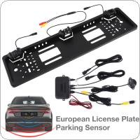 HD CCD 170 Degree  Auto Parktronic EU Car License Plate Frame with 2 Visual reversing radar detector