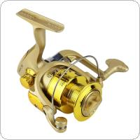 3000 / 4000 Series 6BB Spinning Fishing Reel 5.2:1 Plating Golden Color Left/Right Interchangeable Collapsible Handle