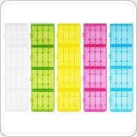 Powerlion 20pcs Hard Plastic Battery Case Holder Storage Box for AA  AAA Battery
