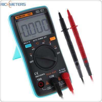 RM101 Digital Multimeter 6000 Counts AC / DC Ammeter Voltmeter Ohm Portable Meter with Backlight