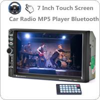 2 DIN 7 Inch Touch Screen Car Stereo MP5 Radio Player Bluetooth / FM / TF / USB /SD Support Steering Wheel Control