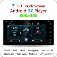 7 Inch RDS Android 6.0 Bluetooth Car Radio Stereo Player Digital Touch Screen GPS Navigation Support Mirror Link for Toyota Camry / Corolla / RAV4