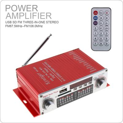 HY-602 HI-FI Digital Audio Player Car Amplifier FM Radio Stereo Player Support SD / USB / DVD / MP3 Input with Remote Control