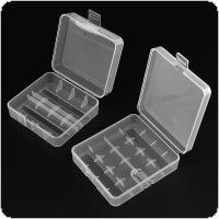 Soshine 7 Different Transparent Hard Plastic Battery Storage Boxes with A Hook for 18650 26650 AA AAA Battery