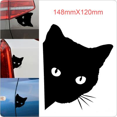 12 x 15cm Cat Face Reflective Car Stickers Cartoon Animal Sticks Pet Cat Stickers for Car / Motorcycle