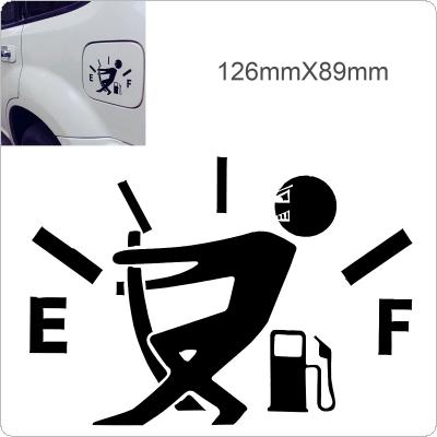 12.7 x 9.2cm Waterproof Gas Empty Sticker Gas Consumption Decal Funny Car Sticker