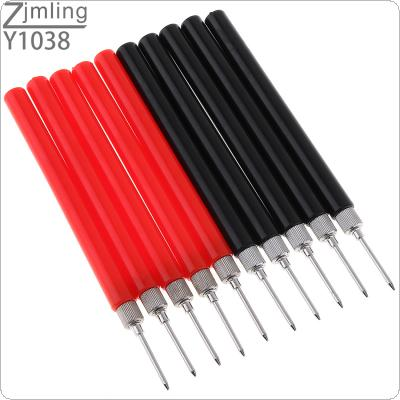 10pcs Spring Test Probe Tip Insulated Test Hook Wire Connector Test Lead Pin for Multimeter