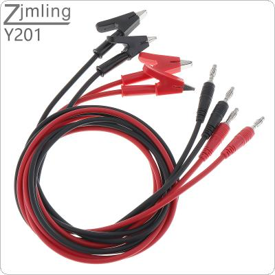 4pcs 15A Alligator Clip to 4mm Pure Copper Lantern Plug Test Lead Cable for Multimeter