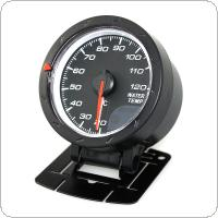 Universal 2.5Inch 60mm  Car Motor Gauge Water Temperature Meter Black Shell with Red & White Lighting