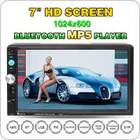 7023D 7 Inch 2 DIN Bluetooth HD Car Stereo Audio MP5 Player with Card Reader FM Radio Fast Charge Support USB / AUX / DVR