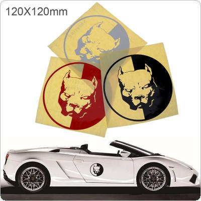 12cm Funny 3D Bulldog Vinyl Decals and Rear Windshield Window Tail Decoration Car Sticker