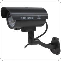 Waterproof CCTV False Emulational Outdoor Fake Dummy Security Camera Decoy with Wireless Blinking Flashing Red LED