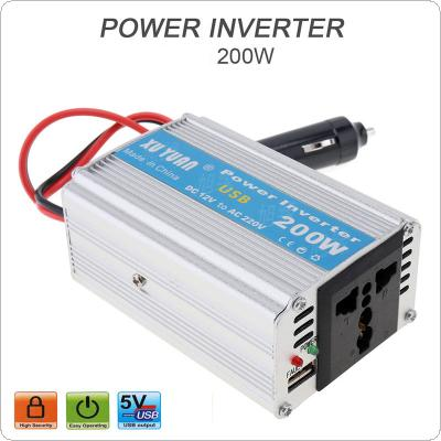 200W DC 12V 24V to AC 220V 110V Car Power Inverter with USB Portable Stereos Charging Port