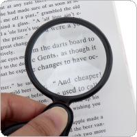 8X Optical Glass Mini Collapsible Portable Pocket Magnifier with Plastic Frame and Cortical Protective Cover for Reading and Inspection