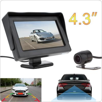 4.3 Inch HD 480 x 234 Resolution 2-Channel Video Input TFT-LCD Car Monitor +  Water-Resistant Car Rear View Camera