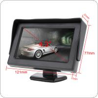 4.3 Inch HD 480 x 234 Resolution 2-Channel Video Input TFT LCD Car Monitor + 170 Wide Angle 420 TV Lines Car Rear View Camera