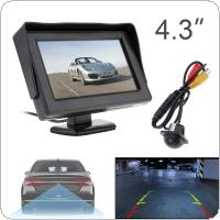 4.3 Inch HD 480 x 234 Resolution 2-Channel Video Input TFT-LCD Car Monitor  + 170 Wide Angle 420 TV Lines Car Rear View Camera