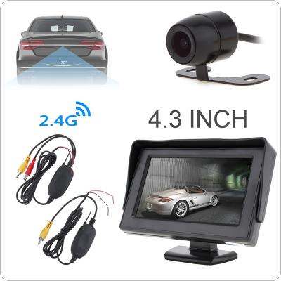 4.3 Inch HD 480 x 234 Resolution 2-Channel Video Input TFT-LCD Car Monitor with 2.4G Wireless Video Transmitter and Receiver and  Car Rear View Camera