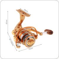 12+1 Ball Bearing 5.2:1 Mini Palm Size Spinning Fishing Reel High Speed Metal Coil Poket Small Wheel