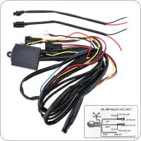 DRL0013 Multi-function Dimming Delay Steering Blasting Controller LED Daylight Control Line Group for Car