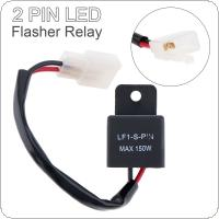 2-Pin Electronic LED Flasher Relay Fix Turn Signal Bulbs Hyper Flash for Motorcycle / Car