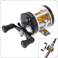 Full Metal Drum Fishing Reel Gear Ratio 3.8:1 Black Right Hand Trolling Wheel Casting Sea Fishing Reel