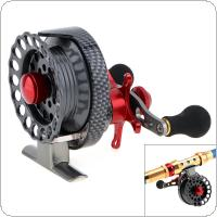 4 + 1BB 3.5:1 Gear Ratio Fly Fishing Reel Left Right Hand 65mm Former Raft Fishing Wheel With High Foot