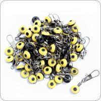 100pcs Medium Size Fishing Float Bobber Stops Space Beans Connectors Sea Saltwater Fishing Tools