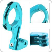 Aluminum Outdoor Motorcycle Bicycle Handlebar Camera Mount Holder with 31.8mm Clamp for Gopro Hero 2 / 3 / 3+ / 4