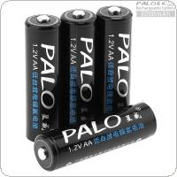 PALO 4pcs 1.2V AA R6 3000mAh Ni-MH Rechargeable Battery with 5A Charging Current for Remote Control / Toy / Alarm / Clock / Wireless Mouse / Game Handle