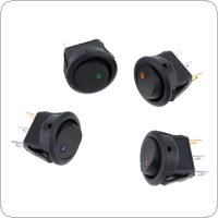 4pcs 12V 20A  4 Colors LED Dot Light Round Rocker On / Off SPST Switch for Car Boat