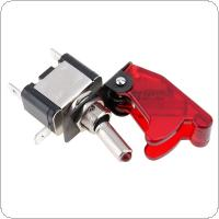 Red Color 12V 20A Car Auto Cover LED Light SPST Toggle Rocker Switch Control On / Off   with Cover