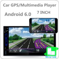 7 Inch QUAD Core Android 6.0 2Din Bluetooth Car Radio Stereo Player 1024x600 Digital Touch Screen GPS Navigation AM / FM / RDS Radio Support Mirror Link