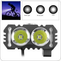 TrustFire D016 2x XM-L2 LED 4.2V Waterproof Bicycle Head Light with 3 Modes Light  + 6200mAh Battery Pack Kits Special for Bicycle Light