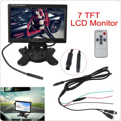 7 Inch 2CH HD 800*480 TFT- LCD Screen Car Monitor for Rear View Camera Auto Parking Backup Reverse Headrest Monitor