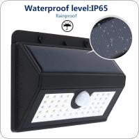 Outdoor Waterproof 45 LED Solar Power PIR Motion Sensor Wall Light with 3 Modes Light for Garden / Yard / Driveway