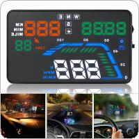 Universal Q7 5.5 Inch Auto Car HUD GPS Head Up Display Speedometers Over Speed Warning Dashboard Windshield Projector