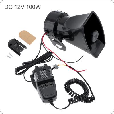 100W 12V 3 Sound Car Electronic Warning Siren Motorcycle Alarm Firemen Ambulance Loudspeaker with MIC