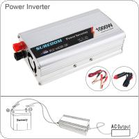 1000W DC 12V 24V to AC 220V 110V USB Portable Power Inverter Adapter Charger Universal Voltage Converter Surge Power 2000W
